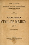 Código Civil de Méjico by Distrito Federal (Mexico), Baja California (Mexico), Puebla (Mexico), and Mexico