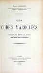Les Codes Marocains by Émile Larcher