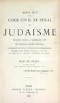 Code Civil et Pénal du Judaïsme by Jean de Pavly