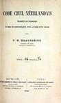 Code Civil Néerlandais by P. H. Haanebrink