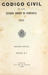 Código Civil de los Estados Unidos de Venezuela, 1922 by Venezuela