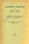 Examen Crítico de las Diversas Teorías sobre la Posesión by Carlos Jiménez de la Torre