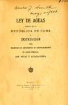 Ley de Aguas Vigente en la República de Cuba by Cuba