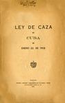 Ley de Caza de Cuba de Enero 22, de 1909