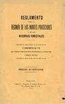 Reglamento para el Régimen de los Montes Protectores y de las Reservas Forestales