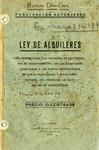 Ley de Alquileres by Mario Díaz Cruz