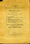 Tema Propuesto para las Oposiciones al Premio de Derecho Civil