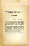 Nuevas Modificaciones el la ley Fundamental, Denominación de las Cédulas; Ley Numero 6299.