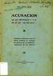 Acusación de los Articulos 7 y 8 de la Ley 108 de 1919 by Juan Samper Sordo