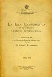 La Idea Corporativa en el Moderno Derecho Internacional