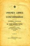 Uniones Libres o Concubinarias
