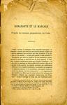 Bonaparte et le Mariage d'après les Travaus Préparatoires du Code