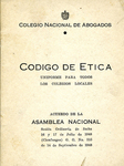 Codigo de Etica by Colegio Nacional de Abogados