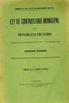 Ley de Contabilidad Municipal de la República de Cuba