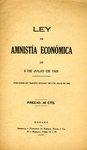 Ley de Amnistia Economica de 6 de Julio de 1928