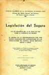 Legislación del Seguro; la Ley Francesa del 13 de Julio de 1930 Sobre el Contrato de Seguro