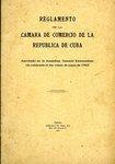 Reglamento de la Camara de Comercio de la Republica de Cuba