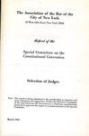 Report of the Special Committee on the Constitutional Convention