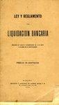 Ley y Reglamento de Liquidación Bancaria