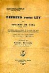 Decreto Versus Ley