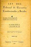 Ley del Tribunal de Garantías Constitucionales y Sociales