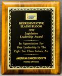Legislative Leadership Award by American Cancer Society