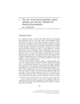 The Rise of Risk-based Regulatory Capital: Liquidity and Solvency Standards for Financial Intermediaries