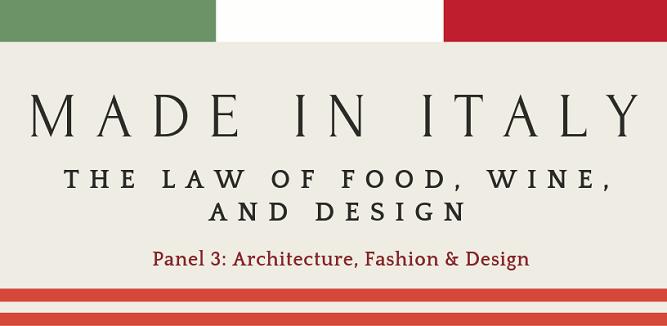 Panel 3:  Architecture, Fashion and Design