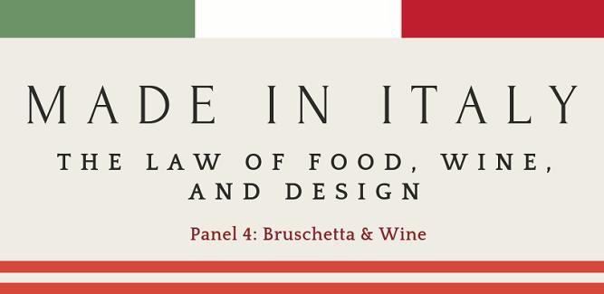 Panel 4:  Bruschetta and Wine