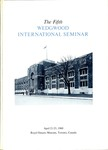 The Fifth Wedgwood International Seminar, April 21-23, 1960, Toronto, Canada