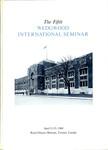 The Fifth Wedgwood International Seminar, April 21-23, 1960, Toronto, Canada by Wedgwood International Seminar