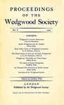 Proceedings of the Wedgwood Society