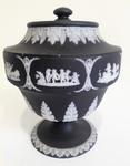 Black Jasper Dip Vase & Cover