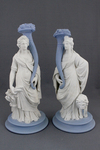 Ceres and Cybele Jasper Candlesticks by Josiah Wedgwood