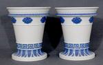 Jasper ware vases (pair)
