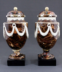Urns with lids (pair)
