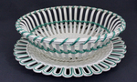 Fruit basket and plate by Josiah Wedgwood