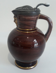 Doric jug with pewter lid